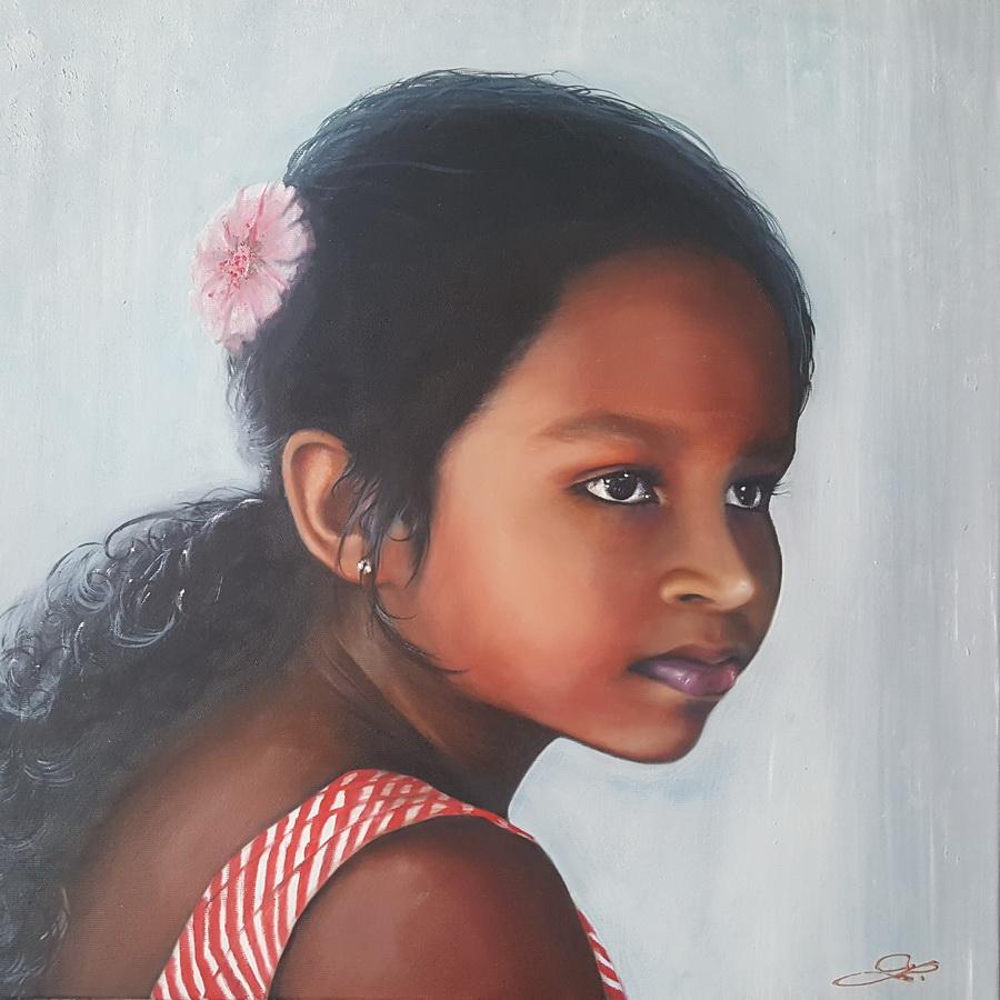 Dhahami Deewindi z Ahangamy Srí Lanka  50x50cm