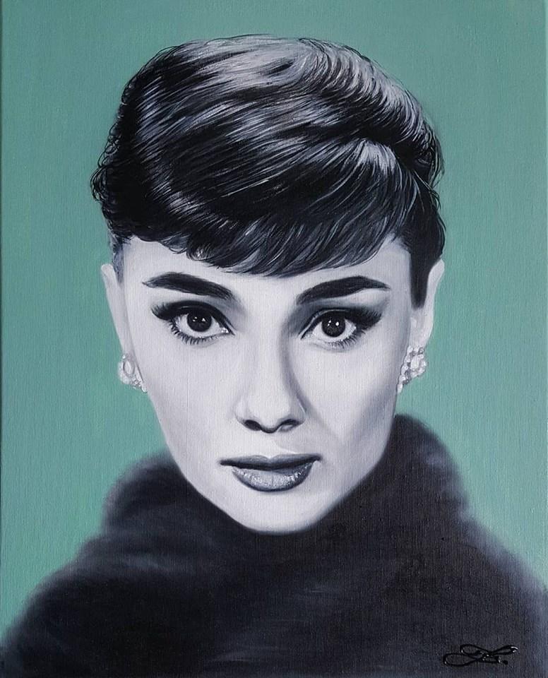 Audrey Hepburn 50x40cm