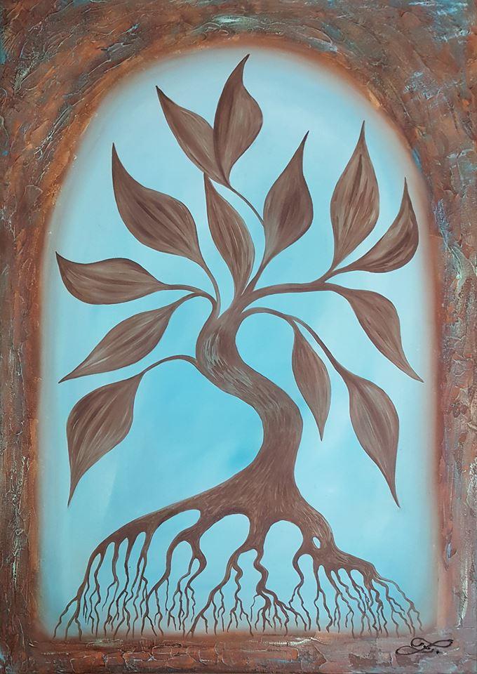 Strom života II  70x50cm