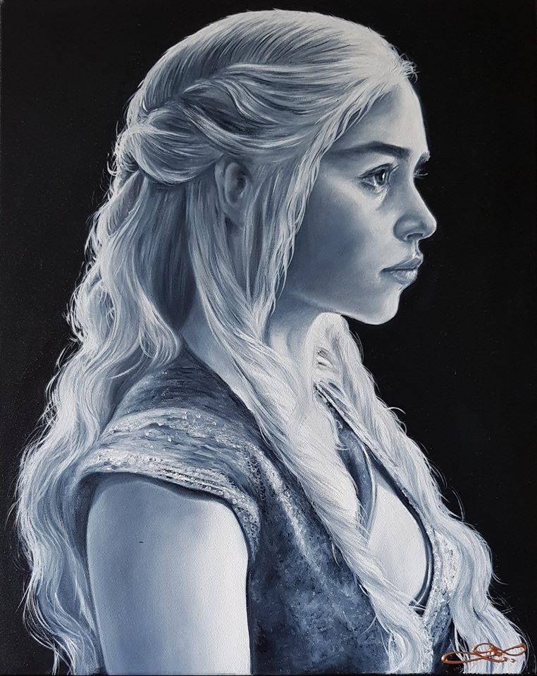 Daenerys Targaryen - Královna draků  - Hra o trůny   - 50x40cm